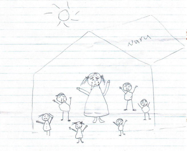 A drawing by a 16-year-old girl from Iran on Nauru. CREDIT: Amnesty International.