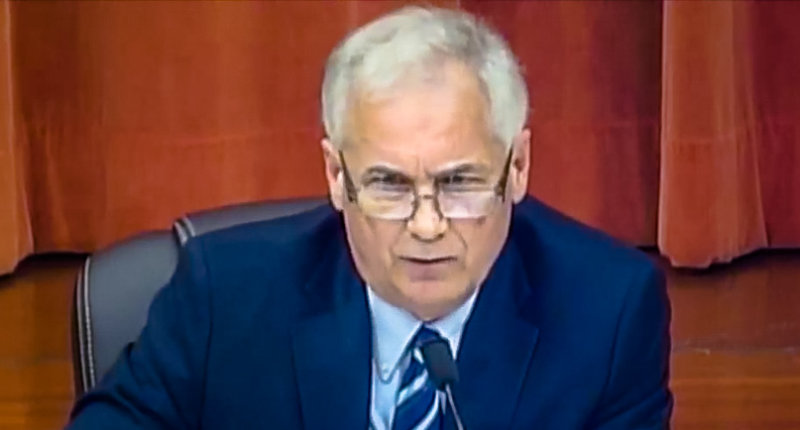Rep. Tom McClintock appears at a debate (YouTube/screen grab)