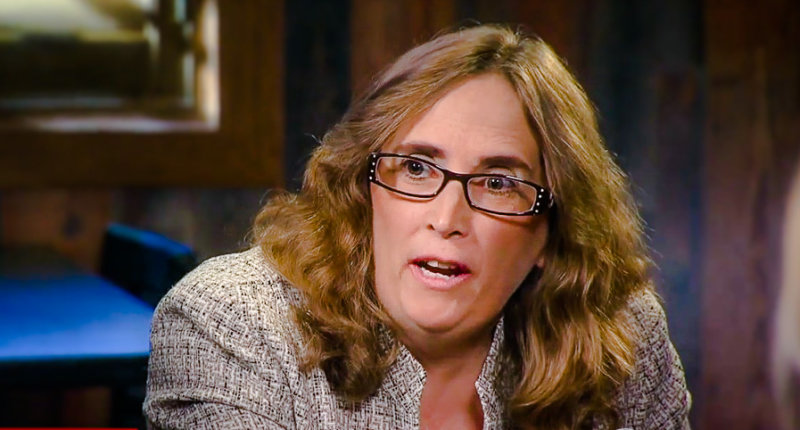 Nevada voter named Barbara speaks to CBS News (screen grab).