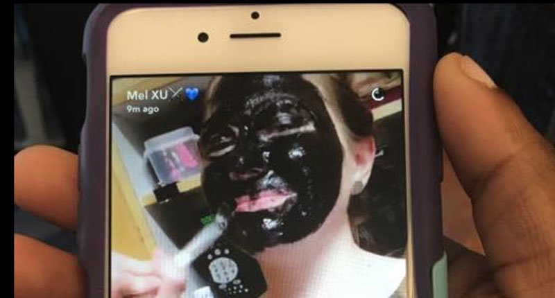 Xavier University student in blackface.