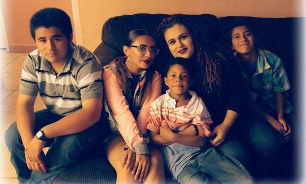 Mariza Ruelas with her children. Photograph: Courtesy of Mariza Ruelas.