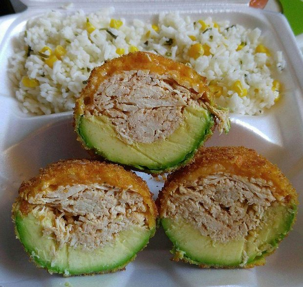 Mariza Ruelas said she sold her signature chicken stuffed fried avocado dish to try and raise money for her legal costs. Photograph: Courtesy of Mariza Ruelas.