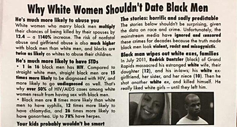 Racist SMU fliers -- screenshot.