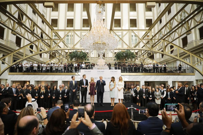 Foreign governments and lobbyists have rushed to book rooms at the new Trump International Hotel in D.C., expecting to curry favor with the president-elect. Chip Somodevilla/Getty