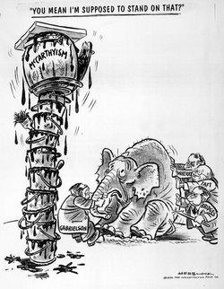 Herblock March 29, 1950 cartoon that originally defined McCarthyism.
