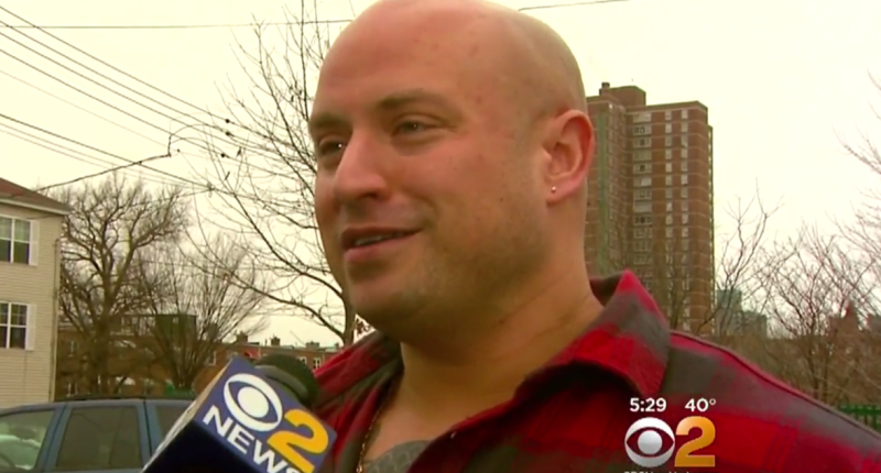 NYC EMT Steven Sampson falsely claimed he was attacked by 'thugs' on Christmas (Screen capture).