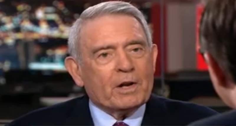 Dan Rather speaks to 'All In' host Chris Hayes on July 11, 2016. (MSNBC).