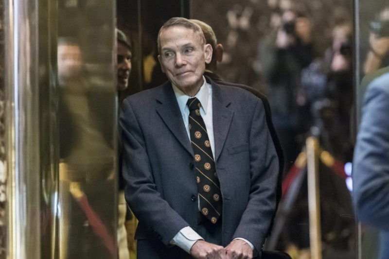 Physicist William Happer arrives for a meeting with President-elect Donald Trump at Trump Tower in New York City on Jan. 13. (Albin Lohr-Jones/European Pressphoto Agency/Pool).