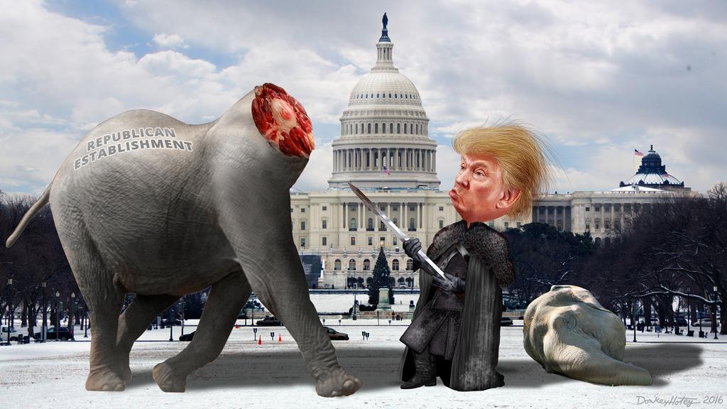 Lord Commander Trump Decapitates the Establishment Republicans.