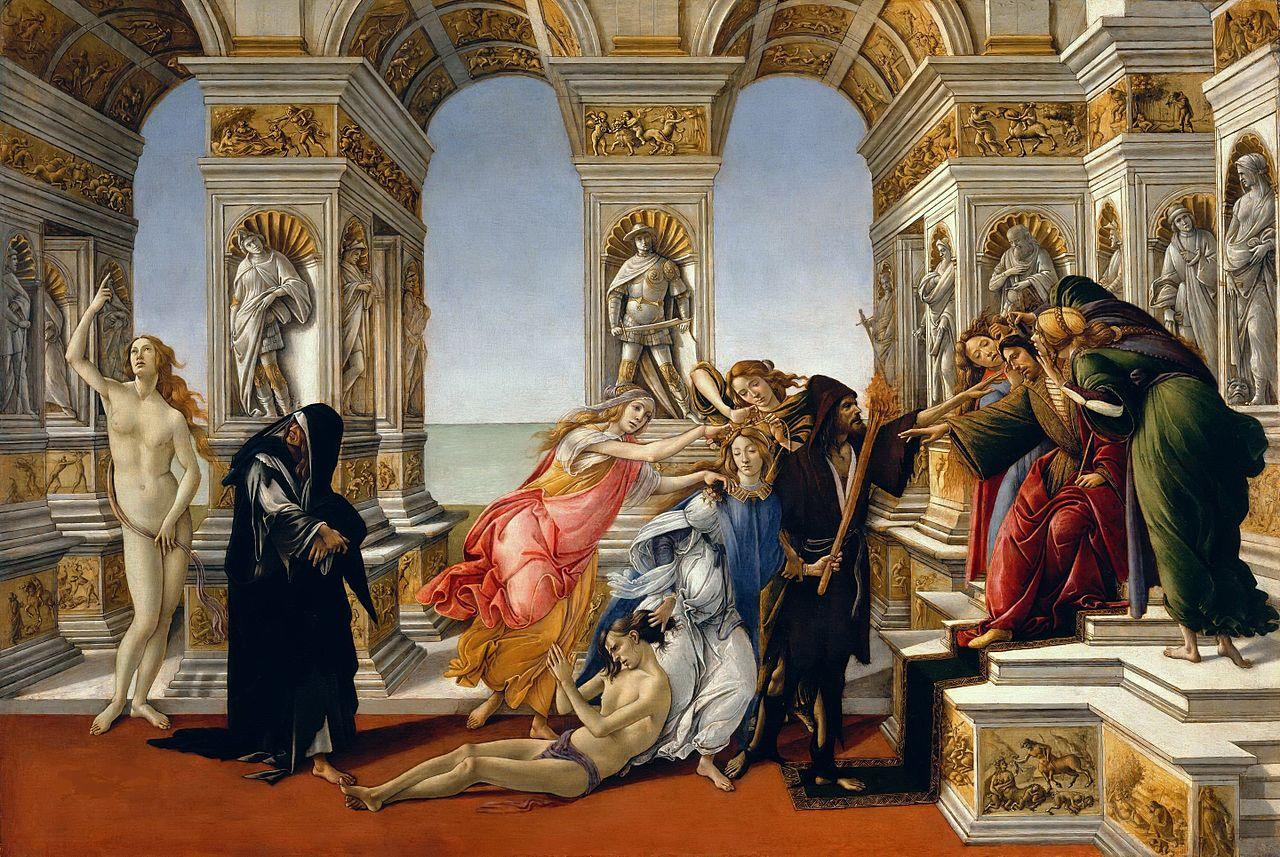 The Calumny of Appelles, Sandro Botticelli, 1494.