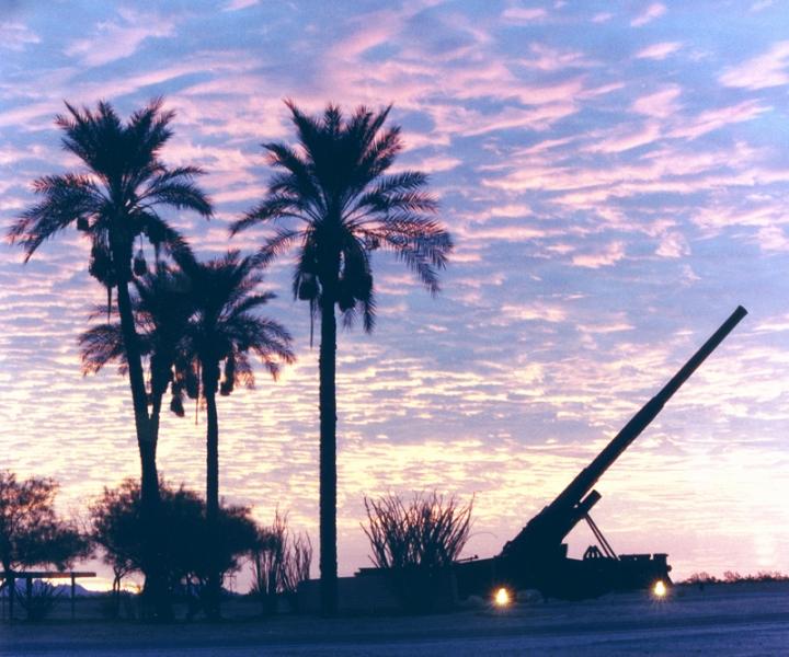 Sunset at the Yuma Proving Ground in Arizona (photo by Yumacool/Wikimedia).