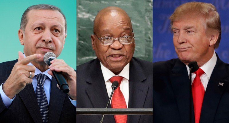 urkey President Recep Tayyip, South Africa President Jacob Zuma, and President Donald Trump. CREDIT: AP Photo/Adam Peck.