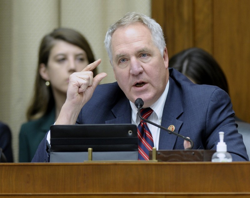Rep. John Shimkus, R-Ill. questions Health and Human Services Secretary Kathleen Sebelius during a House Energy and Commerce Committee hearing on the implementation failures of the Affordable Care Act, Wednesday, Dec. 11, 2013, on Capitol Hill in Washington. CREDIT: AP Photo/Susan Walsh.