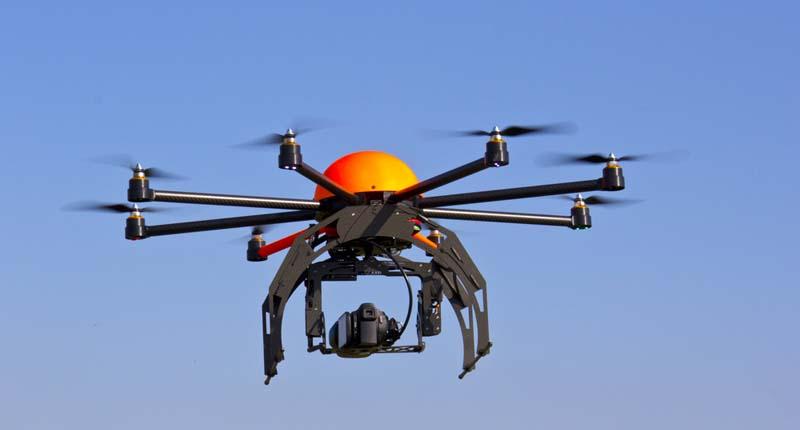 Drone in sky (Shutterstock).