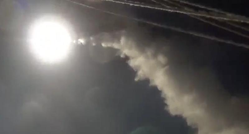 Airstrike on Syria (Photo: screen capture).
