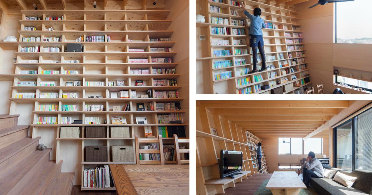 A Climbable Bookshelf.