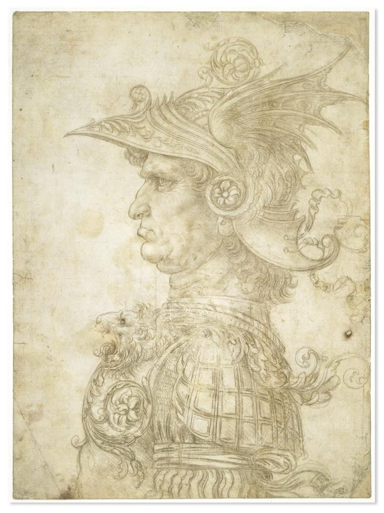 A silverpoint drawing by Leonardo da Vinci.
