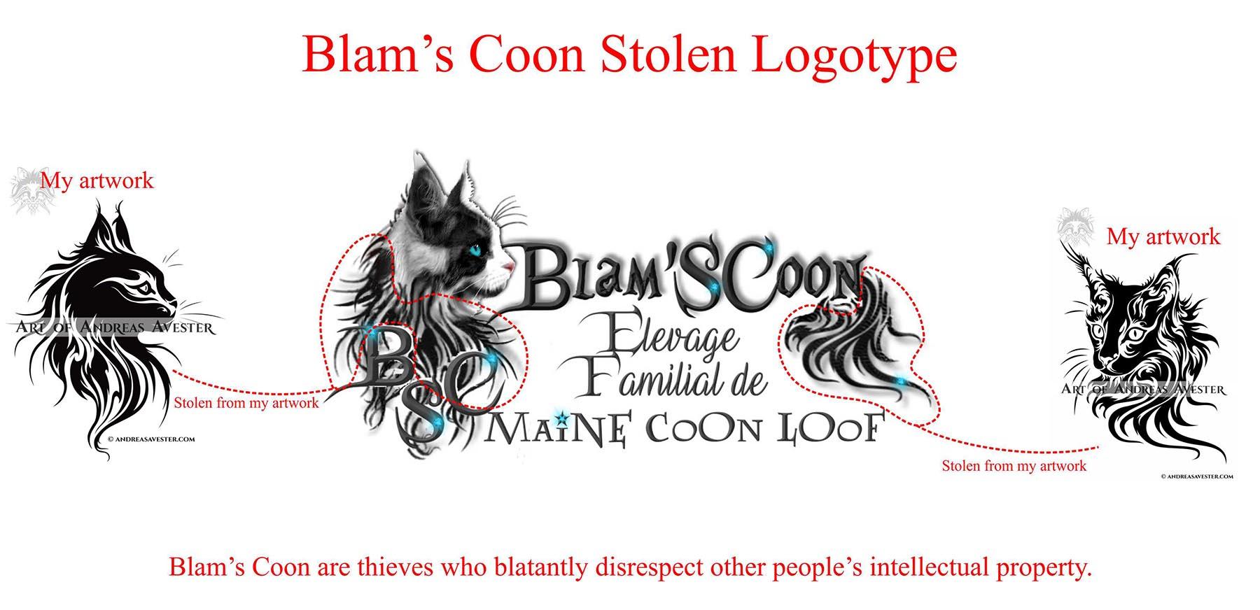 Blam's Coon Stolen Logotype