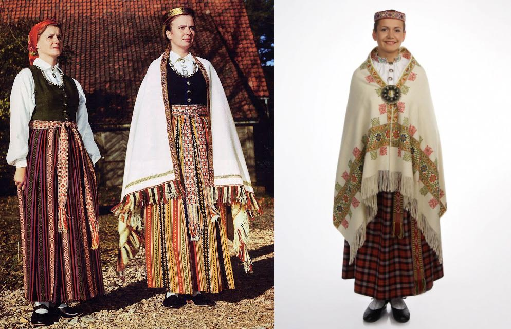 Latvian ethnic costumes