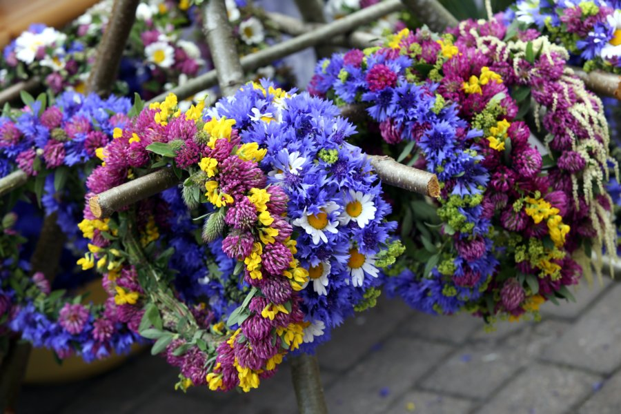 wreaths made of flowers