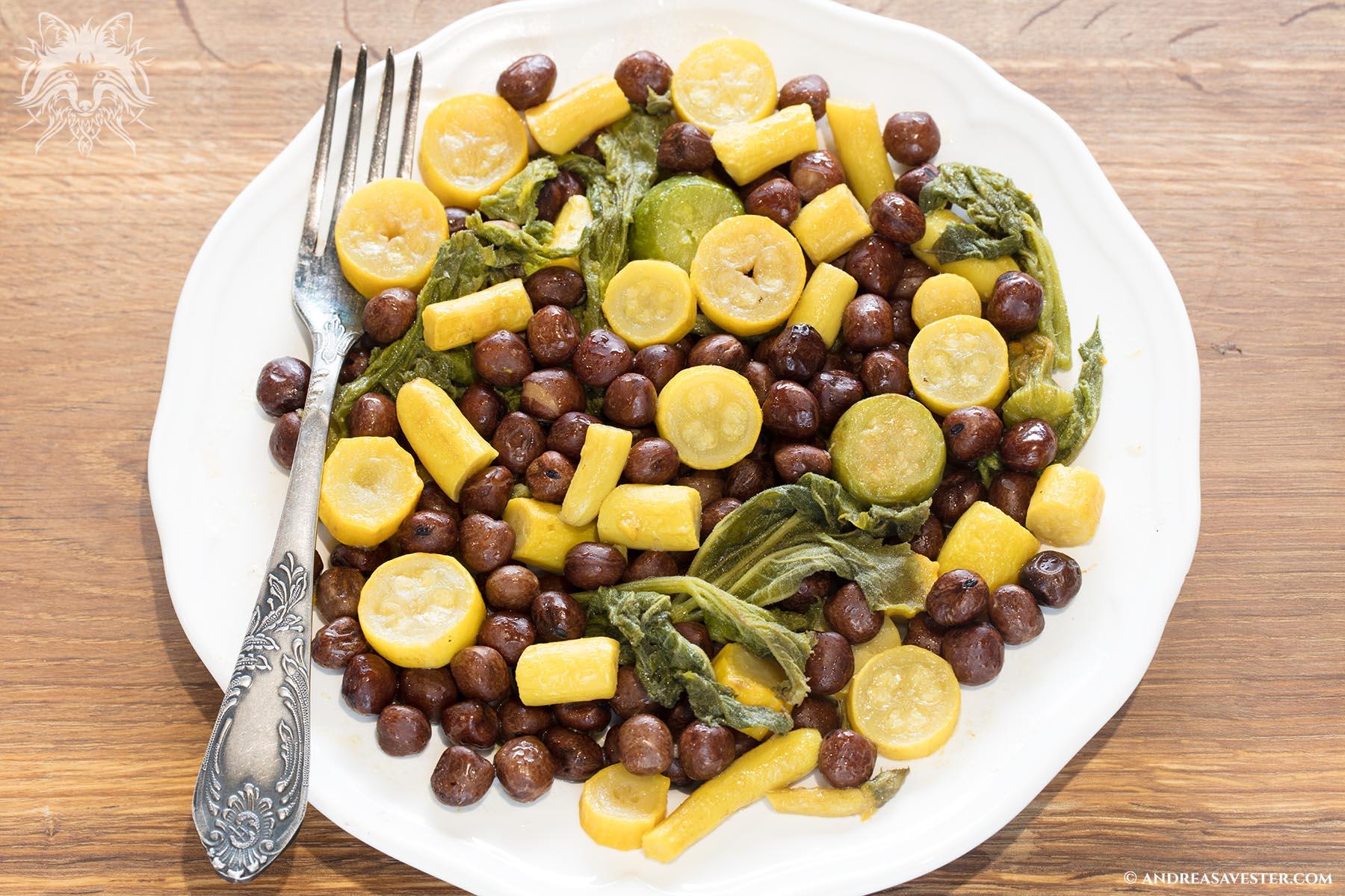 quash peas