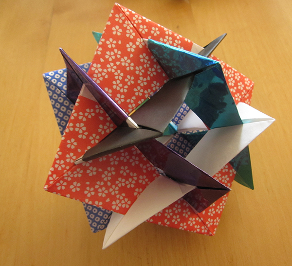 Six Intersecting Squares
