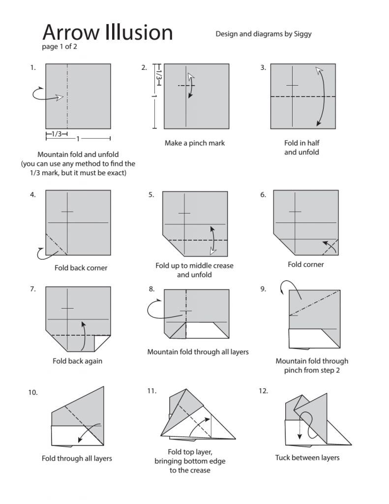 Page 1 of arrow illusion diagram