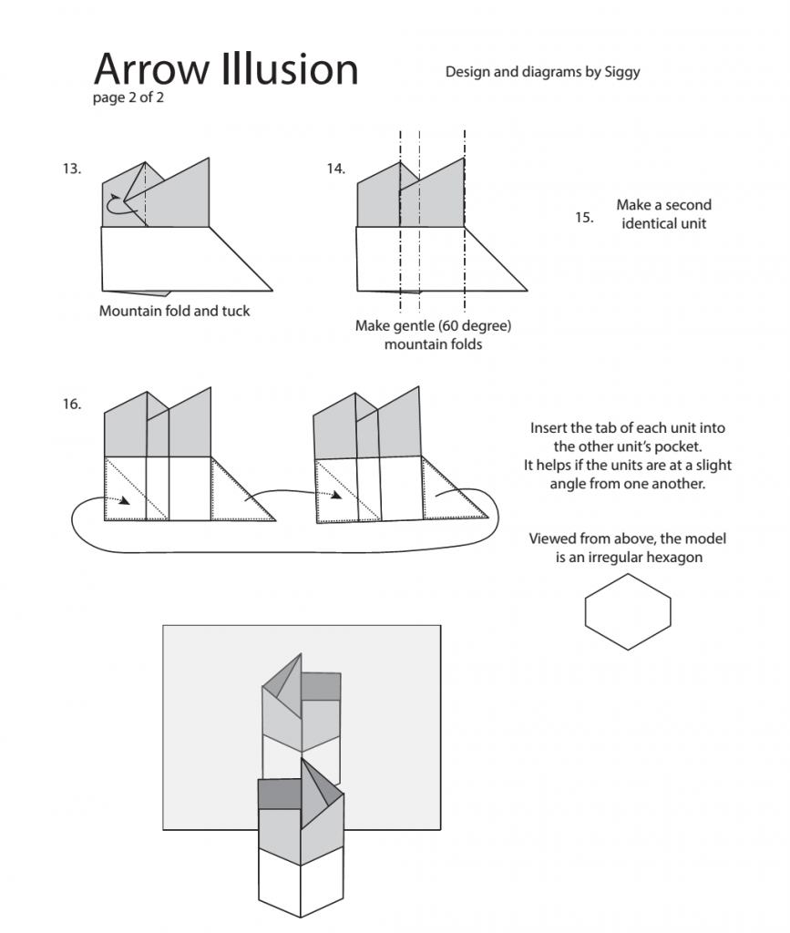 Page 2 of arrow illusion diagram