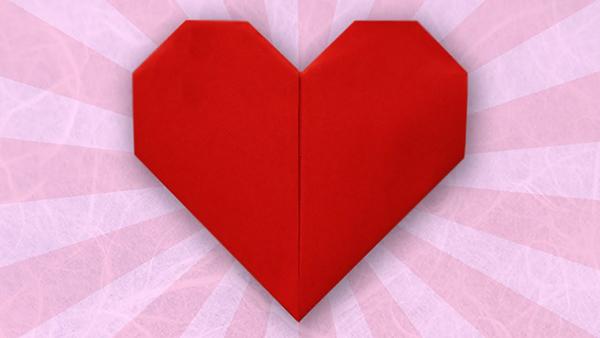 An origami heart