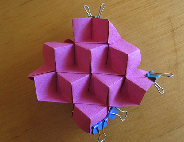 Cube tessellation final prototype, with clips