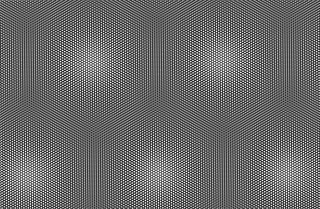 A very large moire pattern created from a twist angle of 1.1 degrees.