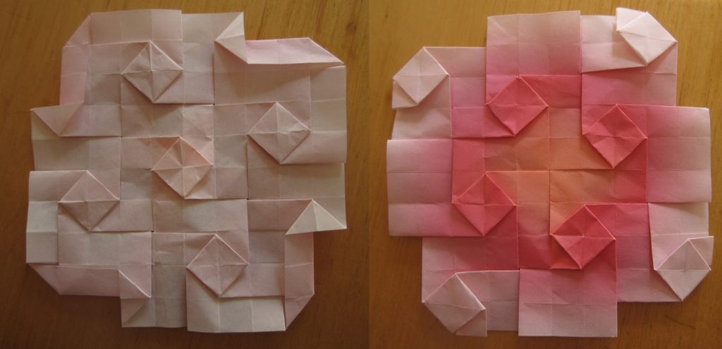 the front and back of a tessellation