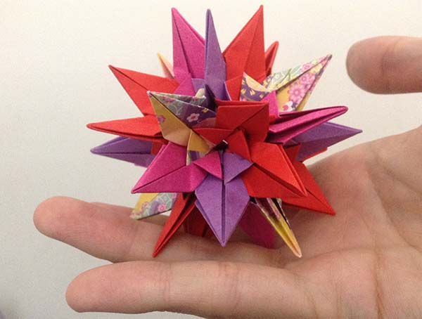 The Sparaxis, a spiky ball that fits in my hand