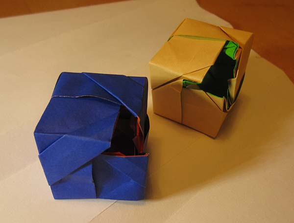 two toroidal cubes seen from the side