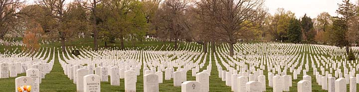 A panorama of the Arlington Cemetery