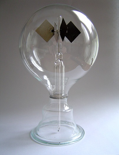 A crookes radiometer, as described in the text