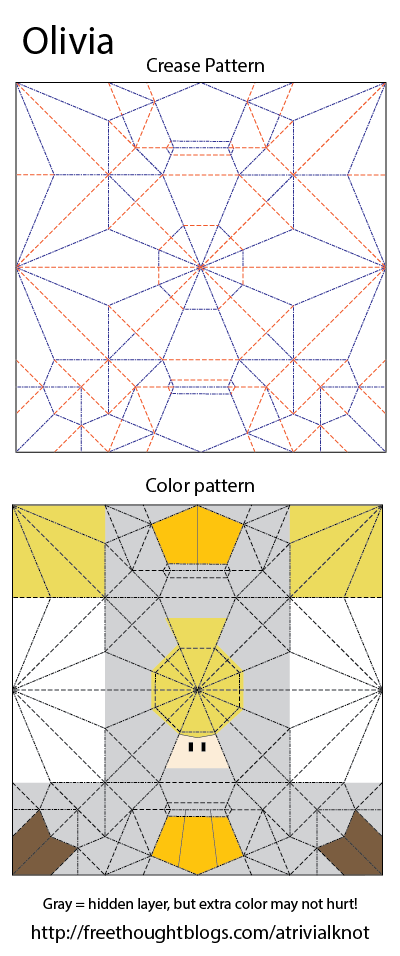 olivia crease pattern