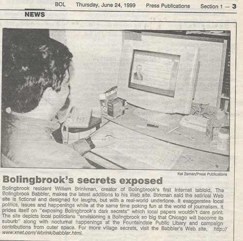 Bolingbrook Babbler 1999