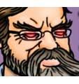 Cartoon of PZ Myers as an elder god