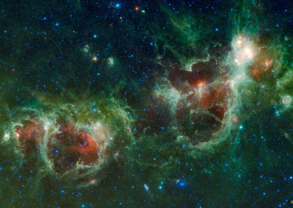 Heart (right) and Soul (left) Nebulae