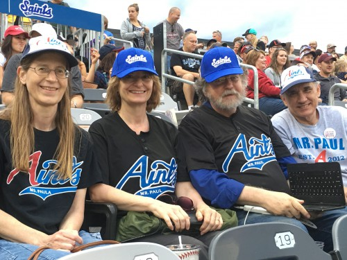 At Mr Paul Aints game, 16 July 2016