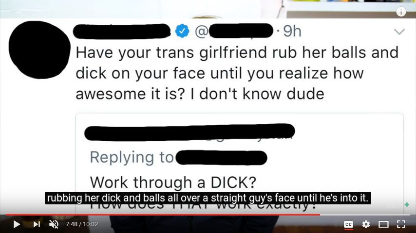 ?????: Have your trans girlfriend rub her balls and dick on your face until you realize how awesome it is? I don't know dude