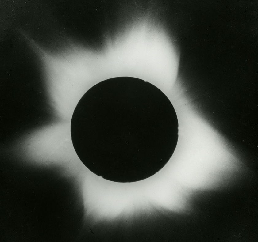 "An image of the corona from ""the Camera for Photographing Eclipse Photographic Collection."""