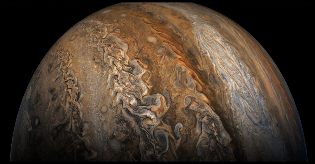 PIA21780: Juno's Eighth Close Approach to Jupiter