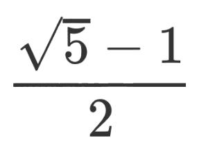 \frac{\sqrt{5} - 1}{2}