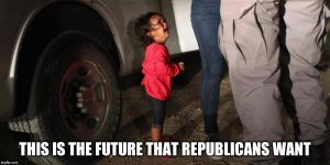 "That photo of a child crying as her mother is arrested, captioned ""This is the future that Republicans want."""