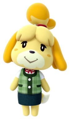 An image of Isabelle, from Animal Crossing: New Leaf.