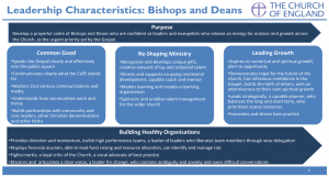 Leadership Characteristics of Bishops and Deans in the Church of England
