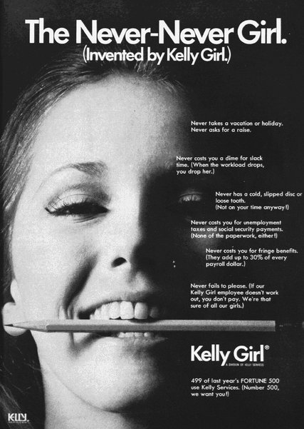 1971 Kelly Girl ad