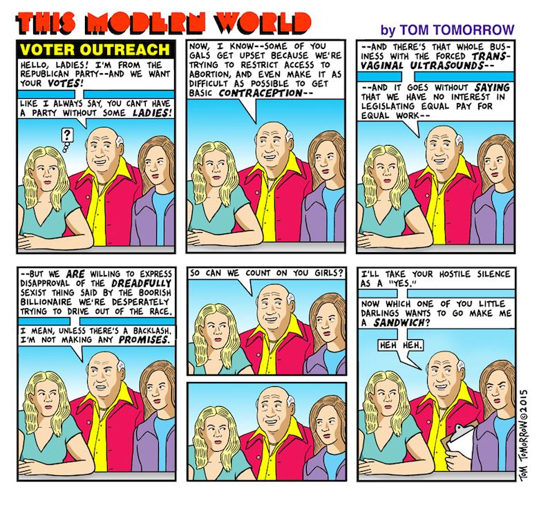 Tom Tomorrow war on women